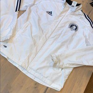 Adidas Boston marathon zip up windbreaker jacket